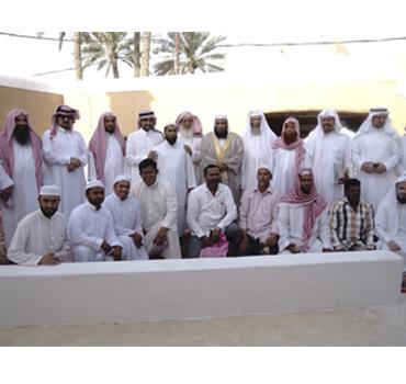 حفل تكريم المسلمين الجدد والدعاة في مسجد الجو بحي نبعة